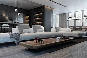 Amazing Studio Apartment Decor With The Dark Styling