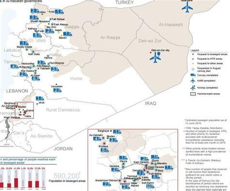 bureau de coordination des affaires humanitaires syrie des villes vidées de leur population après des