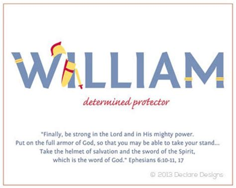 WILLIAM Name Art Canvas with Name Meaning and Scripture ...