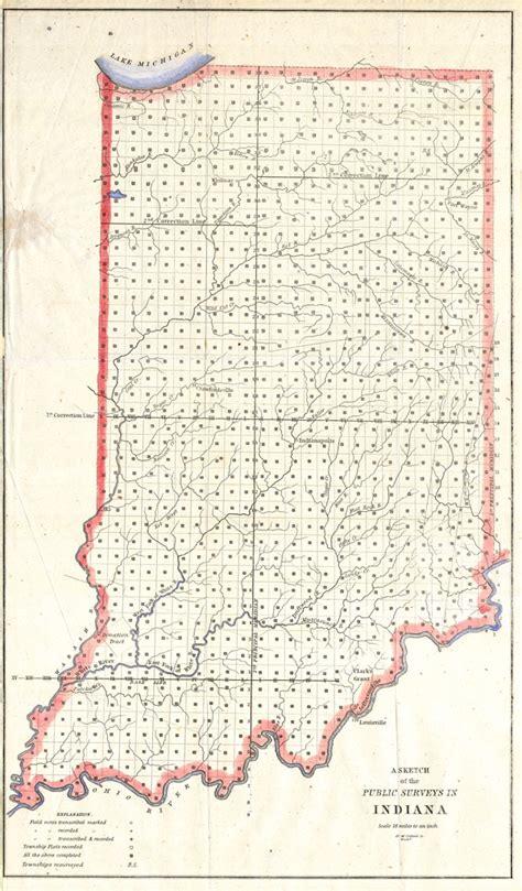 sketch   public surveys  indiana geographicus