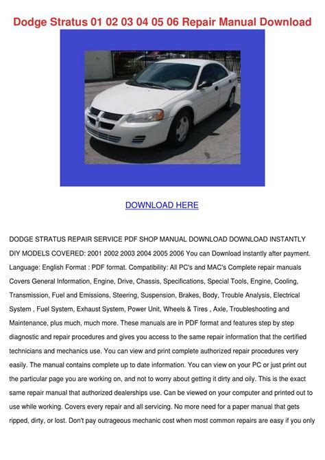 small engine repair manuals free download 2005 dodge ram 2500 free book repair manuals dodge stratus 01 02 03 04 05 06 repair manual by danibliss issuu