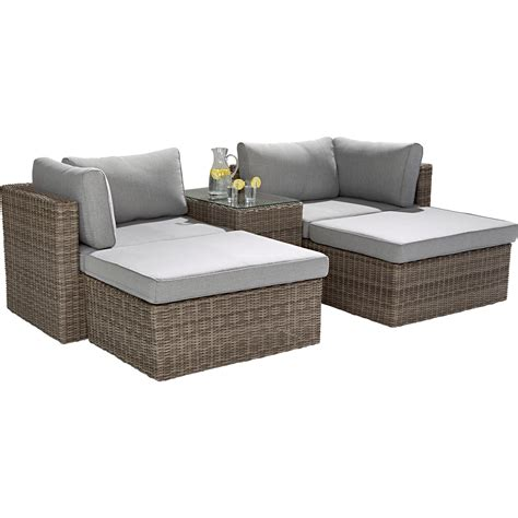 gartenmöbel set lounge lounge set olea 5 teilig kaufen bei obi