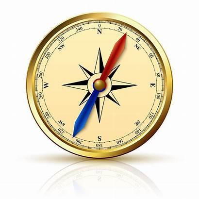 Compass Vector Navigation Emblem Golden North South