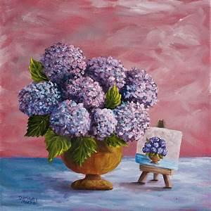 Hydrangeas From My Garden Painting by Darice Machel McGuire