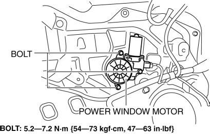 Mazda Service Manual Power Window Motor Removal
