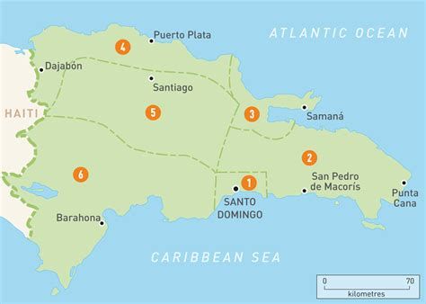 map   dominican republic dominican republic regions