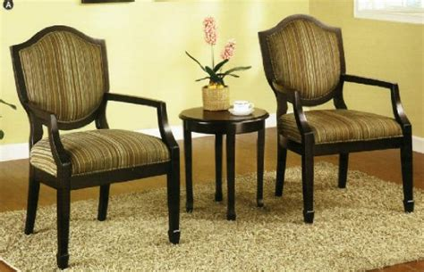 3 pc set of 2 accent chairs table personal care club