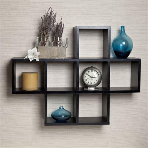 Decorative Storage Shelves - black wall shelf display modern bathroom storage beautiful