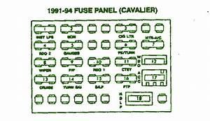 2003 Cavalier Fuse Diagram : 91 94 chevrolet cavalier sunbird fuse box diagram auto ~ A.2002-acura-tl-radio.info Haus und Dekorationen