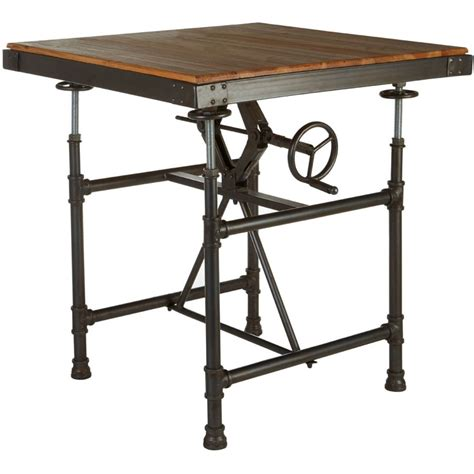 industrial table ls industrial square dining table