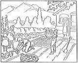 Agriculture Coloring Drawing Agricultural Pages History Harvest Drawings Mormon November Children Getdrawings 1923 Growth sketch template