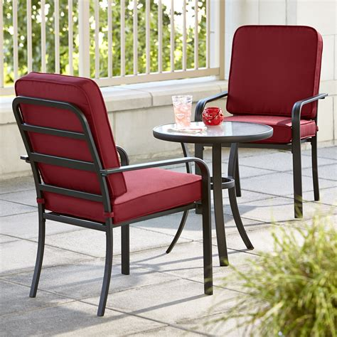 three patio set essential garden bisbee 3 bistro set limited