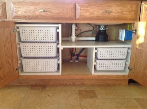 kitchen sink storage ideas kitchen sink organization my husband built for