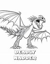 Stormfly Coloring Pages Train Dragon Getcolorings Printable sketch template