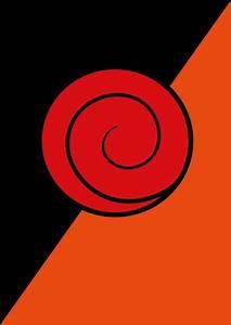 Naruto Poster, Uzumaki & Uchiha clan symbols, Minimalist Print, Anime Poster, Wall Art, Art ...