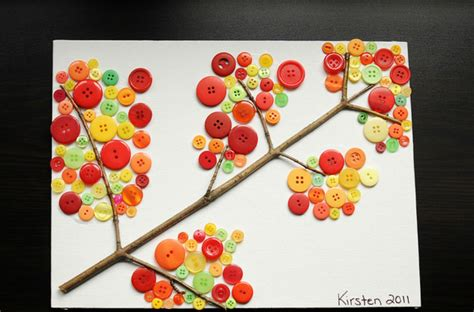 7 easy button crafts for today s parent 615 | fall buttons gallery
