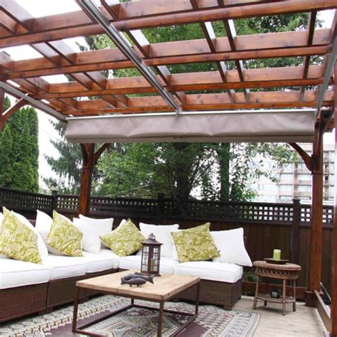 get retractable canopy to cover the patio decorifusta