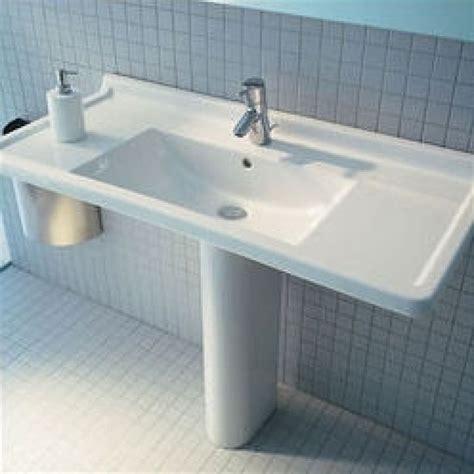duravit durastyle pedestal sink duravit starck 3 33 5 quot pedestal bathroom sink d19026