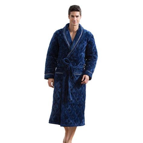 robes de chambre homme robe de chambre polaire bleue pour homme lepeignoir fr