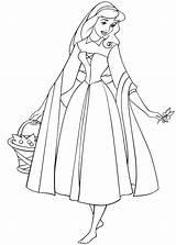 Aurora Coloring Colorear Bella Sleeping Beauty Disney Dibujos Princesa Durmiente Addormentata Colorare Disegni Gratis Bosque Bosco Nel Cesta Imagui Viene sketch template