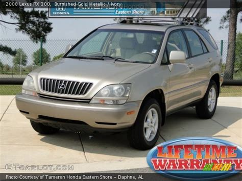 gold lexus rx burnished gold metallic 2000 lexus rx 300 ivory