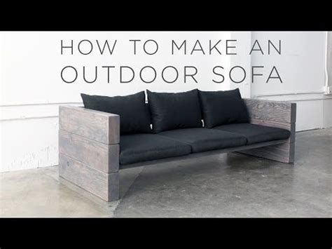 Garden Sofas Cheap by How To Make A Modern Outdoor Sofa For Cheap Best Diy