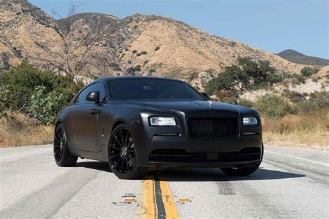 matte black rolls royce wraith  forgiato wheels
