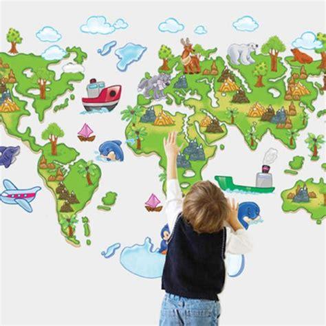muursticker wereldkaart kinderkamer muurstickerstunternl