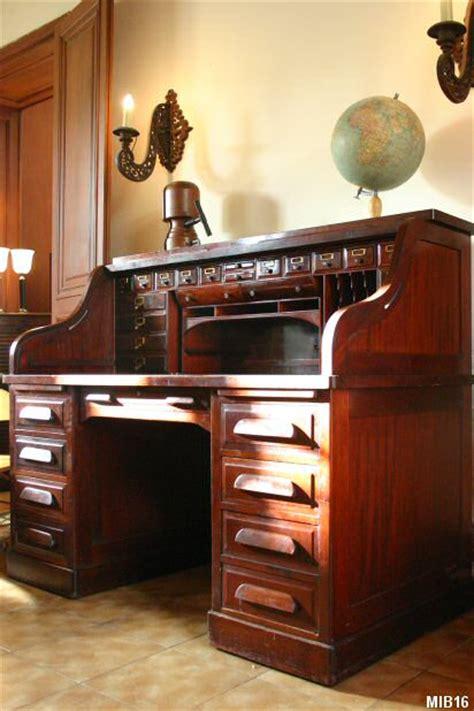 bureau americain cylindre bureau acajou tous les objets de décoration sur maison