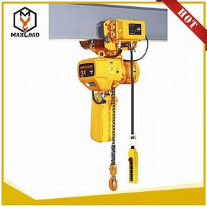 China 3t Beam Trolley Mounted Electric Chain Hoist