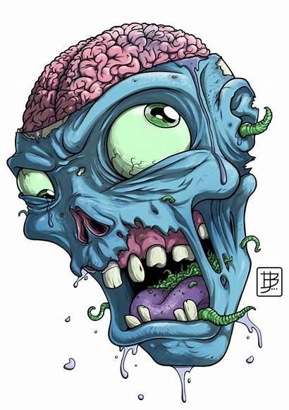 Zombie Head Drawing Clipart Deviantart Cartoon Graffiti