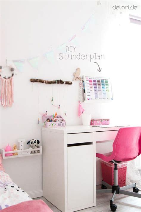 Kinderzimmer Mädchen Kaufen by Kinderzimmer Ideen M 228 Dchen Diy Stundenplan Schreibtisch