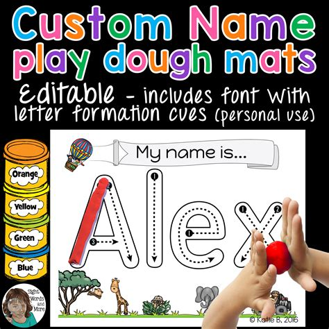 playdough mats  activity editable education