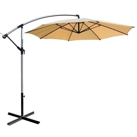 azuma 3m hanging crank parasol sun shade garden umbrella canopy ebay