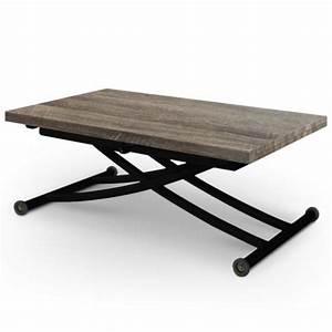 Table Basse Bois Et Noir : table basse relevable le meuble qu il vous faut dans votre salon magazine de l 39 aube ~ Teatrodelosmanantiales.com Idées de Décoration