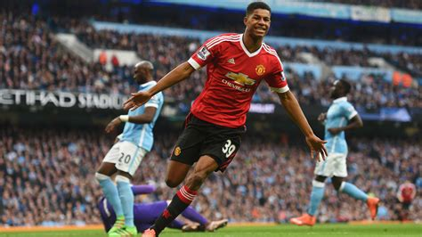 He went to score eight times in his first season and also found the net on his first. Marcus Rashford delivers match-winning display in Manchester derby | Football News | Sky Sports
