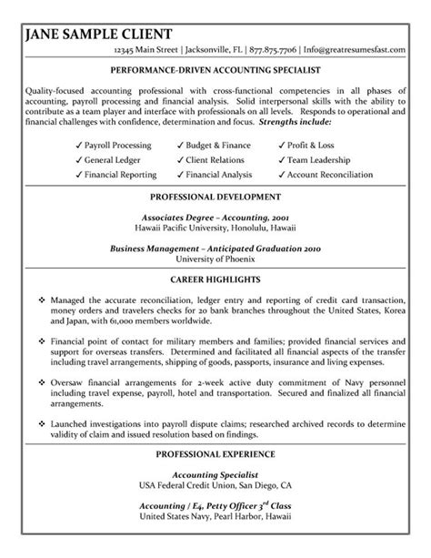 Example of resume for working student