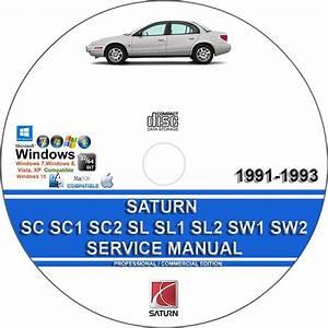 Saturn Sc Sc1 Sc2 Sl Sl1 Sl2 Sw1 Sw2 1991