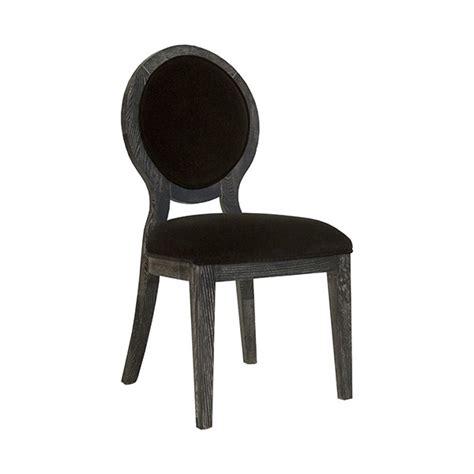 worlds away overton black cerused oak oval back chair in