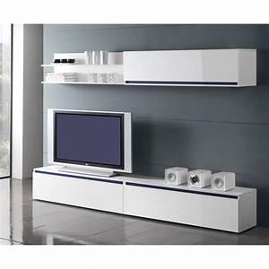 Meuble Tv Bas Long Blanc