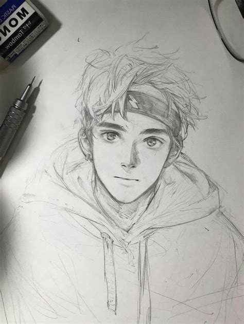 Easy Anime Boy Sketch Drone Fest