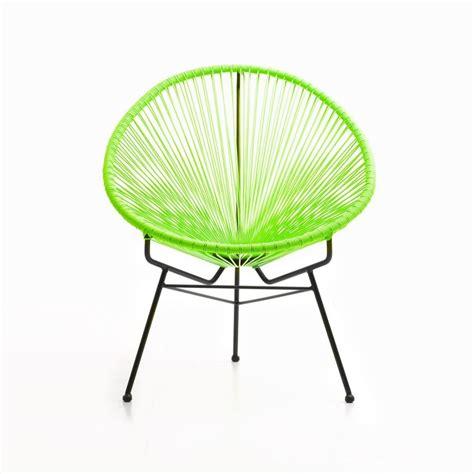 fauteuil de jardin majorque en resine tressee ronde vert