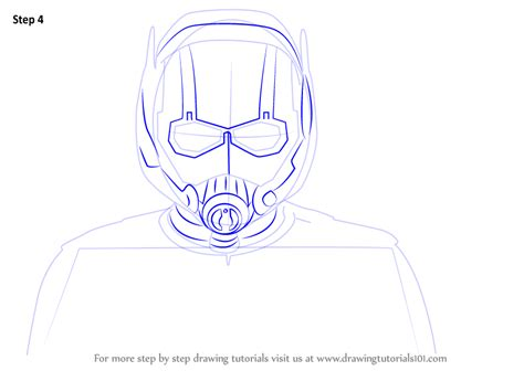 learn   draw ant man face marvel comics step