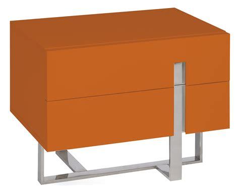table de chevet moderne orange laqu 233 et acier dezina lestendances fr