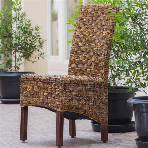 international caravan manila rattan wicker dining chair in