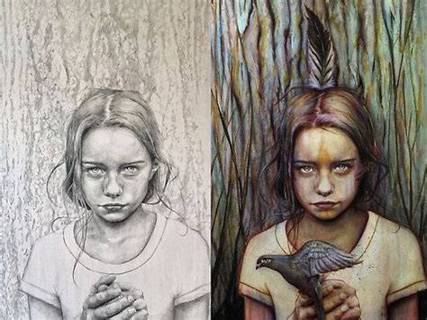 kierra pencil  paint  michael shapcott graphite
