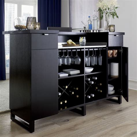 Home Bar Cabinet by Steamer Standing Home Bar Cabinet With Stainless Steel Top