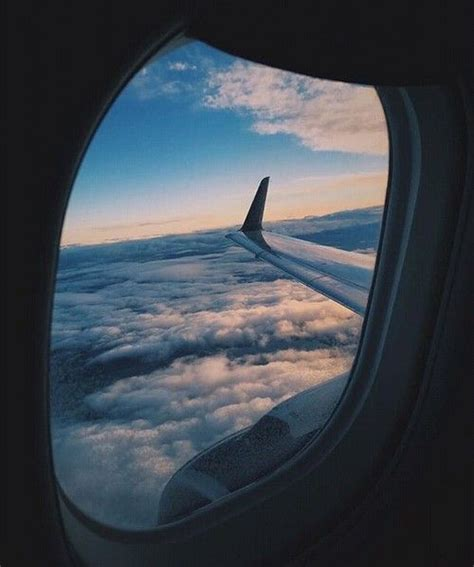 travel airplane  clouds image travel