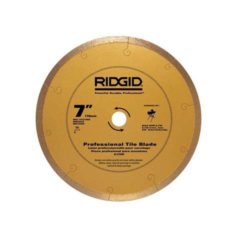 ridgid tile saw blade tile saws cutters accessories ridgid saw blades 7 in