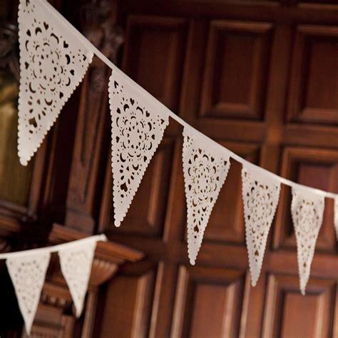 wedding bunting   beautiful lace pattern romantic etsy